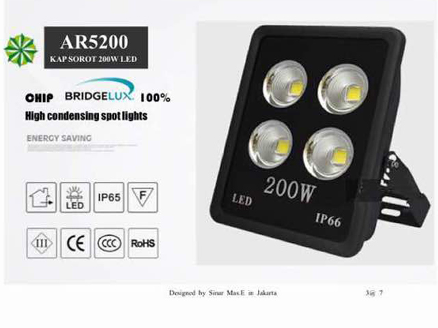 Lampu Sorot LED 200 Watt Bridgelux