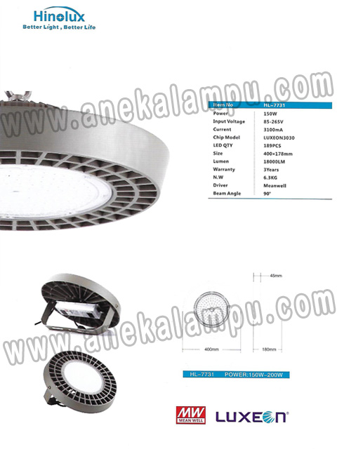 Lampu Industri LED 150 Watt Hinolux