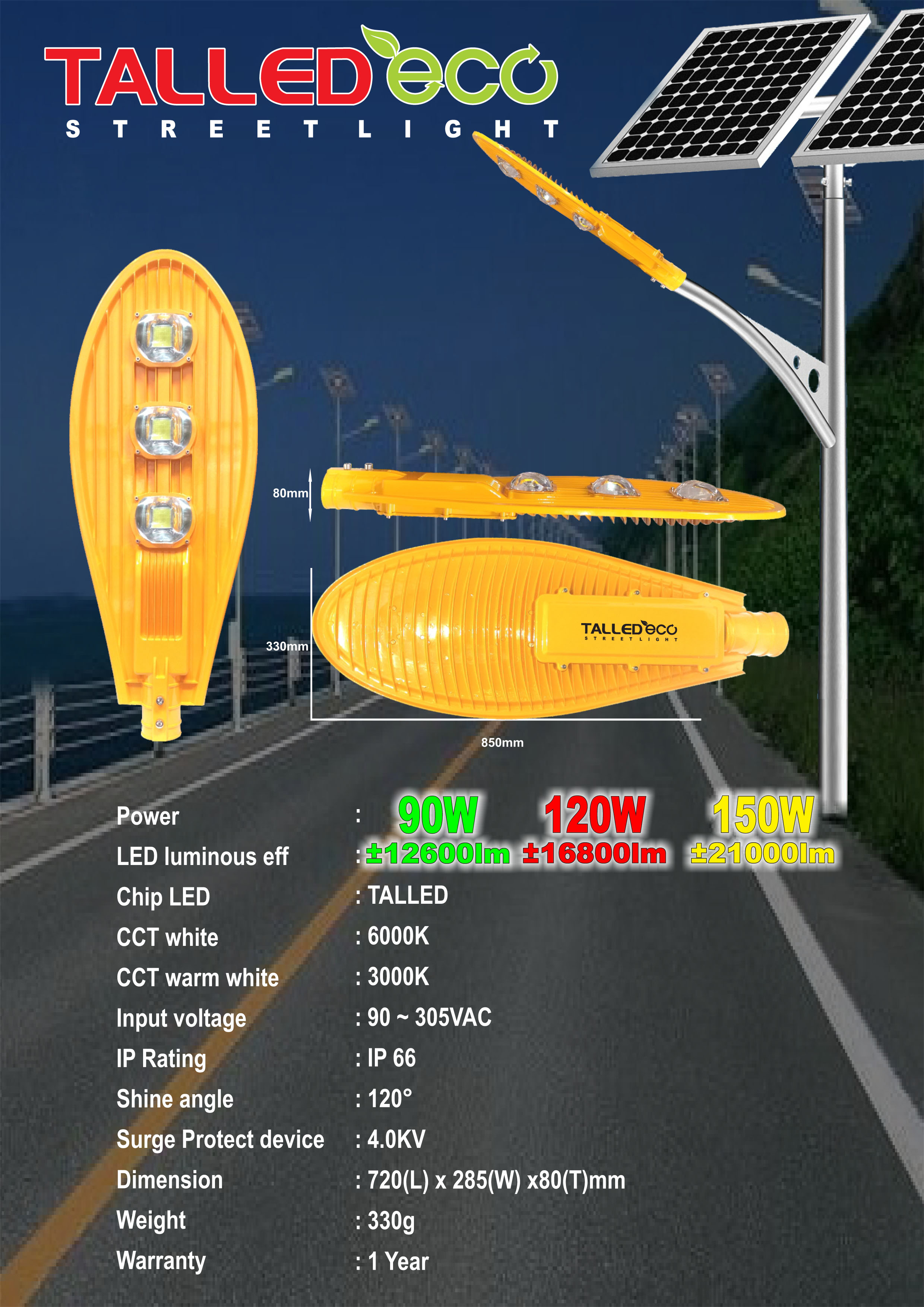 Lampu PJU LED Talled ECO